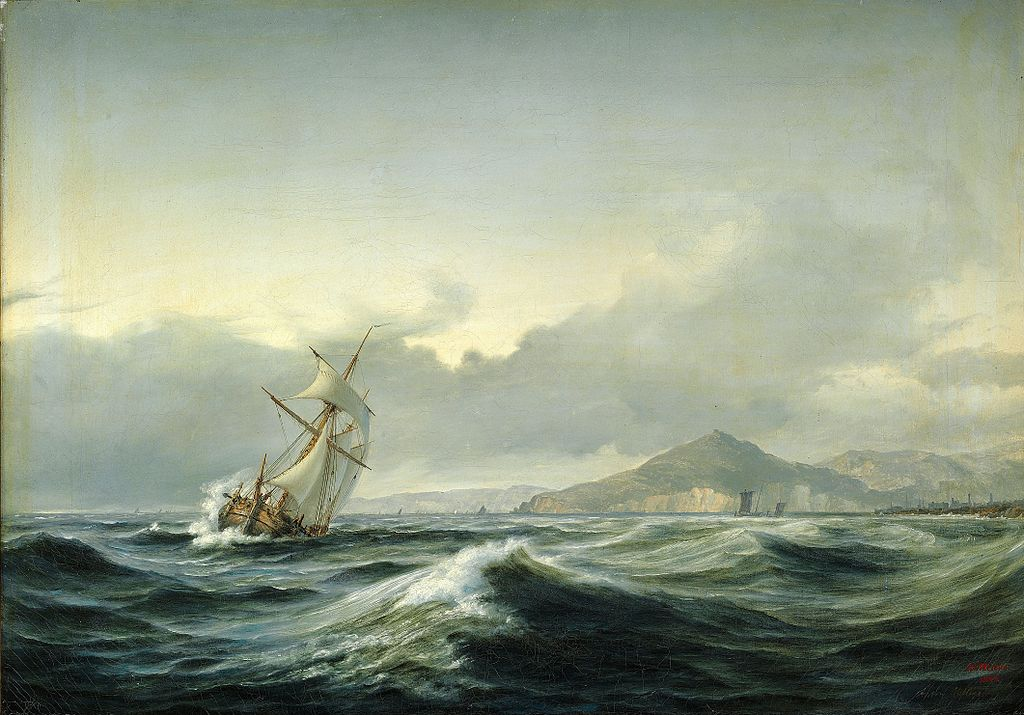 seascape-with-sailing-ship-in-rough-sea-1844